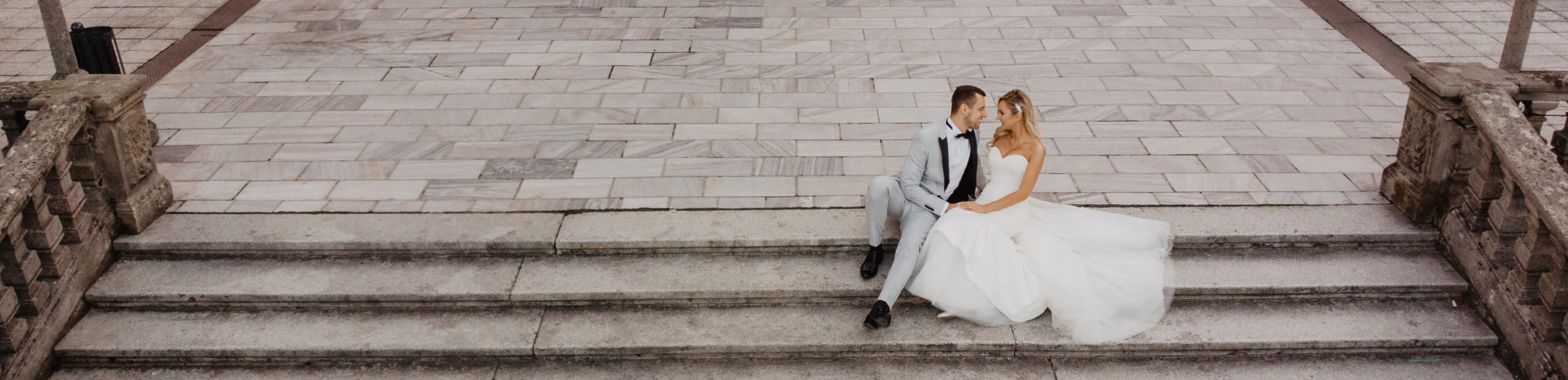 ujęcia z drona zamek moszna bydgoszcz wesele