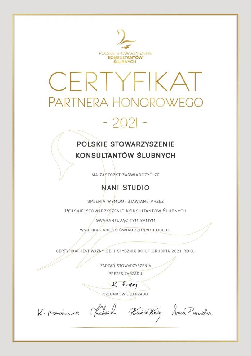 certyfikat film ślubny wesele bydgoszcz